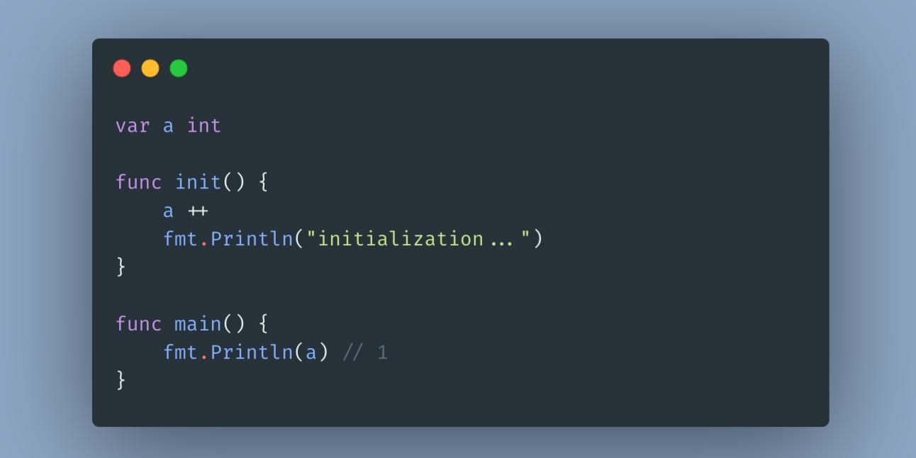 Go 语言中的 init 函数(译)